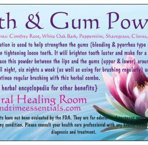 Natural Healing Room - Tooth Powder