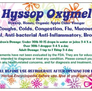 Natural Healing Room - Hyssop Oxymel 8oz