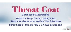 Natural Healing Room - Throat Coat -Kill Strep Infections