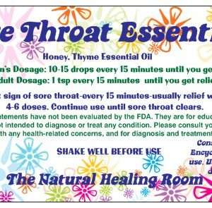 Natural Healing Room - Sore Throat Essentials 4oz Jar