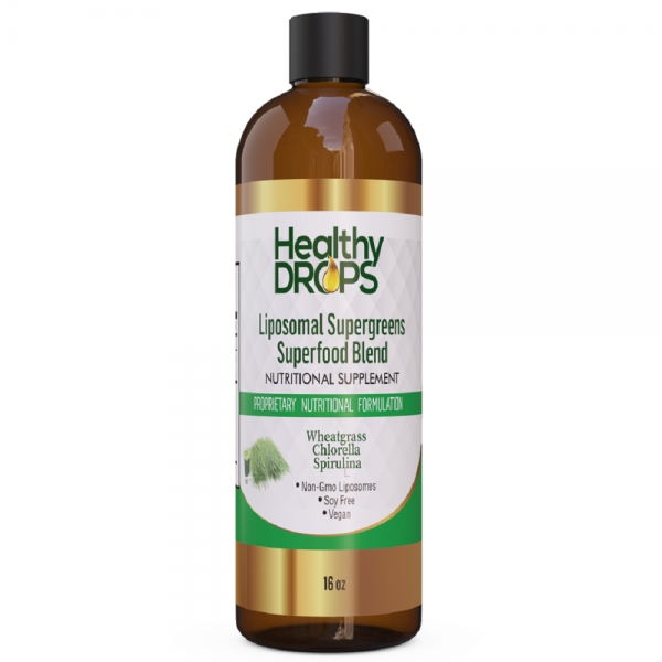 Natural Healing Room - Liposomal Supergreens Wheatgrass Chlorella Spirulina